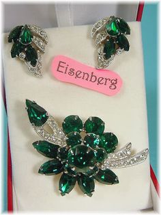 13 Piece Jewelry Lot  EISENBERG Rhinestone by FindMeTreasures, $119.00