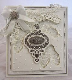 Sue Wilson Dies ~ Festive Collection Pine Bough, x ~ NIP for sale online Christmas Card Crafts, Christmas Cards To Make, Xmas Cards, Handmade Christmas, Holiday Cards, Christmas Items, Card Making Inspiration, Making Ideas, Hand Made Greeting Cards