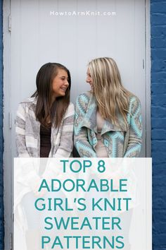 These Top 8 Adorable Girl's Knit Sweater Patterns! These Sweaters are Adorable, Plus theseSweaters are so easy to make! This article has many cute sweater Patterns that you will enjoy. #Top8AdorableGirl'sKnitSweaterPatterns #CuteSweaters #GirlSweaters #SweaterPatterns #KnitSweaters #Knit #Patterns Sweater Knitting Patterns, Knit Patterns, Cute Sweaters, Knit Crochet, Easy, Handmade, Tops, Knitting Patterns, Hand Made