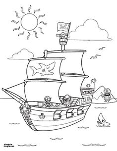 Fun Printables: Pirate Ship Coloring Page