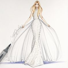 Ralph & Russo ❄️#fashionsketch #fashionillustration #fashionillustrator…