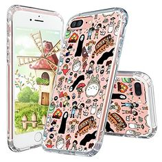 Looking for the best & top rated Iphone 7 Case, Mosnovo Totoro Doodle Cute Design Crystal Clear Back Case With Shockproof Tpu Bumper Cover For Iphone 7 Pretty Iphone 7 Cases, Iphone 7 Cover Case, Iphone 7 Plus Cases, Phone Gadgets, Iphone Phone, Cute Cases, Mobile Cases, Cute Designs, Things To Buy