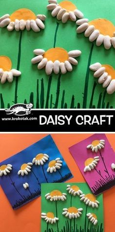 DAISY CRAFT children activities, more than 2000 coloring pages Spring Crafts For Kids, Summer Crafts, Diy Crafts For Kids, Easy Crafts, Kindergarten Art, Preschool Crafts, Diy Niños Manualidades, Spring Art, Summer Art