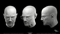 Walter White from Breaking Bad serie in 3D by Kevin SANS | Fan Art | 3D | CGSociety