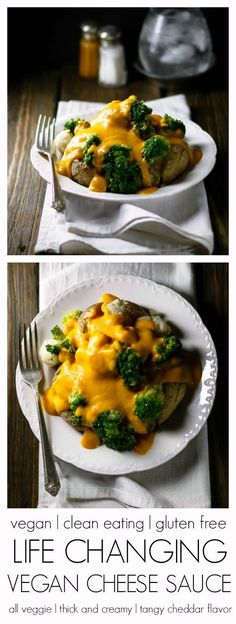 Life Changing Vegan Cheese Sauce, easy to make, real cheddar flavor. Nut free and uses ingredients you probably have in your kitchen right now!