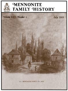 Mennonite Family History magazine  -Mennonite Surname research