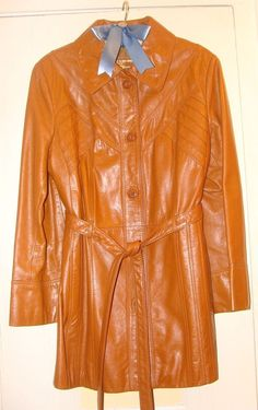 Vintage 1970's Saddle Brown Leather Jacket Great Style Sz 10 Beautiful Condition #TheTannery #Casual