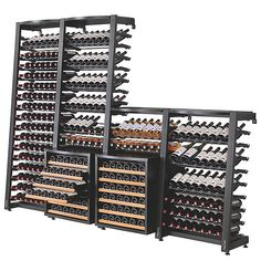 Buy the EuroCave Modulosteel 1 Column Wine Rack (Add On) at Wine Enthusiast – we are your ultimate destination for wine storage, wine accessories, gifts and more! Wine Cellar Modern, Glass Wine Cellar, Wine Cellar Racks, Home Wine Cellars, Wine Cellar Design, Wine Bar Design, Modern Wine Rack, Wine Shop Interior, Wine Cellar Basement