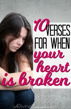 Heartache abounds in this world, but God's Word offers comfort. Claim for yourself or for a loved one these 10 Bible verses for hurting hearts. Healing Scriptures Bible, Bible Verses Kjv, Love Scriptures, Faith Prayer, God Prayer, When Your Heart Hurts, Hurting Heart, Scripture For Today, Words Of Comfort
