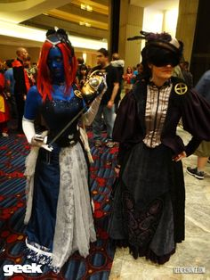Steampunk X-Men - Mystique and Psylocke - Simone & me from DragonCon 2012