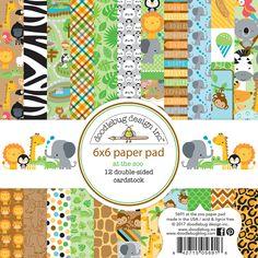 "At The Zoo - Doodlebug  Paper Pad 6""X6""  - PRE ORDER                              $6.99"