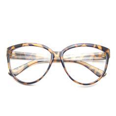 3296c52c67 Womens Oversize Retro Nerd Clear Lens Fashion Cat Eye Geek Glasses