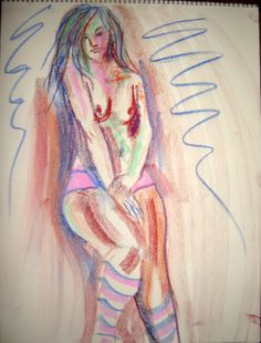 Pastel Nude 3 by DANJOYCEartworks on Etsy, $75.00