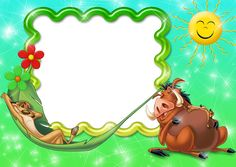Pumba and Timon Transparen Kids PNG Photo Frame