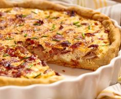 Recept: Quiche s kyselým zelím a uzeným Halloumi Burger, A Food, Food And Drink, Bacon Quiche, White Cheddar Cheese, Quiche Lorraine, Dried Beans, Deep Dish, Entrees