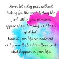 Never Let A Day Pass...