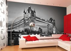 London Tower Bridge Wallpaper Mural Behangposter - bij AllPosters.be