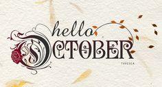 black tag diaries: hello october...