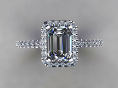 Beautiful Engagement Ring Designs - Going to purchase an engagement ring? You most definitely such as this best engagement ring designs. The modern, classic, and luxury engagement ring. Emerald Cut Rings, Emerald Cut Diamonds, Diamond Cuts, Halo Diamond, Simulated Diamond Rings, Emerald Stone, Black Diamond, Halo Engagement Rings, Antique Engagement Rings
