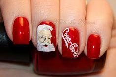 Coca Cola Santa - Christmas Holiday Nails