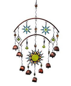 Another great find on #zulily! Green Two-Tier Sun Wind Chime #zulilyfinds