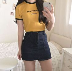 Look at this Awesome korean fashion outfits Korean Fashion Summer, Korean Fashion Trends, Korea Fashion, Asian Fashion, Ulzzang Fashion Summer, Korean Fashion Ulzzang, Korean Ulzzang, Mode Outfits, Casual Outfits