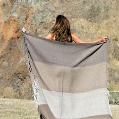 The beauty and quality of this Llama Throw is undeniable. Woven from llama fleece raised on the high Andean plains of La Puna, Argentina. Fleece Throw, Cushions, It Is Finished, Strong, Warm, Beauty, Throw Pillows, Toss Pillows, Pillows
