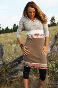 Naturalist - Eco/Upcycled Gypsy Longsleeved Dress/Tunic - Size Small