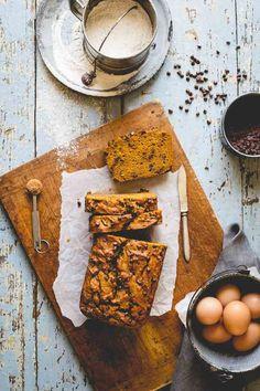 Healthy Pumpkin Chocolate Chip Bread | White whole-wheat flour | Baking |Snack…