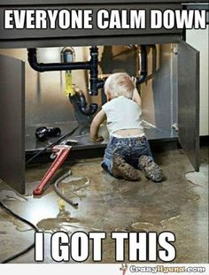 A+funny+picture+of+a++kid+who+is+trying+to+fix+something+under+the+kitchen+sink.+You+should+calm+down+because+he+is+capable+of+solving+the+pipe+problem
