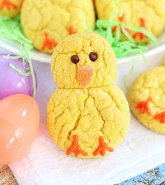 Lemon cake mix cookie easter