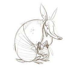 Something I did not expect to see so many of around Atlanta. #armadillo #sketch #sketchbook #illustration #doodle #draw #instaart #characterdesign