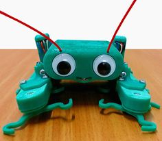 Charlie and Billy are cute, smartphone-controlled bots. #Atmel #3DPrinting #Arduino #Makers #Robotics #Robots