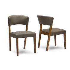 Mid Century Wood Dining Chairs (Set of 2)
