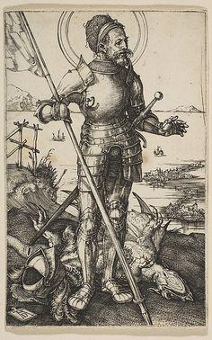 St. George Standing Albrecht Dürer (German, Nuremberg 1471–1528 Nuremberg) Date: n.d. Medium: Engraving