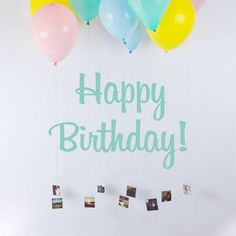Prints hung from balloons Party Animals, Animal Party, Baby Birthday, Birthday Parties, Happy B Day, Party Items, Holidays And Events, Event Planning, Diy Gifts