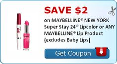 *New* Beauty Coupons for MAYBELLINE and Garnier Fructis! Print while they are available. #coupons #MAYBELLINE #GarnierFructis