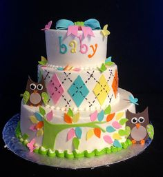 Owl baby shower by christie's cakes via Flickr