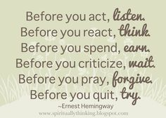 ....and Spiritually Speaking: Before You...