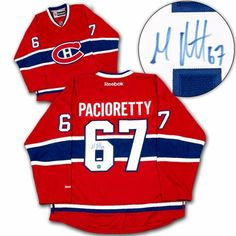 7343af91daf MAX PACIORETTY Montreal Canadiens SIGNED Reebok Premier Hockey JERSEY by AJ  Sports World.  379.00.