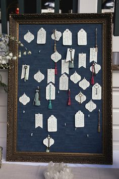 Check out this fun escort card set up!