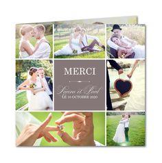 Carte de remerciement mariage Amour champêtre (R-4300) Wedding Paper, Wedding Day, Communion, Wedding Photos, Wedding Inspiration, Polaroid Film, Invitations, Cards, Julien