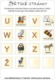 Pexeso - abeceda (U-Z)