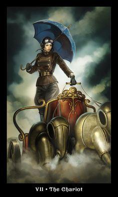 Llewellyn's latest tarot deck: Steampunk tarot!