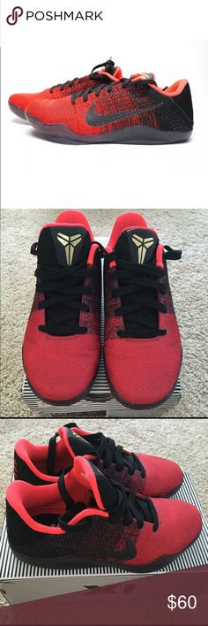 Kobe XI Nike Achilles Heel Flyknit Sneaker 4.5y Very good condition. Only used 1. They are great for basketball, working out or waking around. These are a 4.5y but in women's I wear a sz 6 or 6.5. I am selling some of my sneaker collection due to having a baby and need to make room. Insides still have that just out of box smell!   The Nike Kobe 11 features Flyknit technology that includes thermoplastic polyurethane (TPU) yarn for superior strength, the brands first shoe to feature this new…
