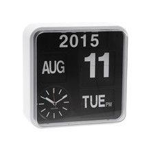 Wall Clock Mini Flip White