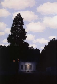 René Magritte, The Empire of Lights, 1954, Oil on canvas, 146 x 114 cm