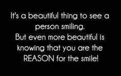 I smile a lot