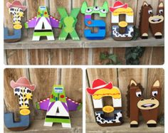 """Custom Handmade """"Character Letter"""" Toy Story Themed Bedroom or Child's Playroom Letters, or Toy Story Themed Party Centerpiece."""