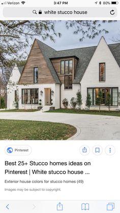 29 ideas exterior wood siding diy house colors for 2019 Wood Siding House, House Paint Exterior, Exterior Siding, Exterior House Colors, Diy Exterior, White Stucco House, White Brick Houses, Home Exterior Makeover, Exterior Remodel